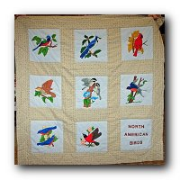 North American Bird Quilt