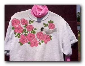 Transfer T4510 Chickadee w/Roses
