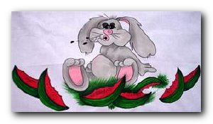 Transfer T4586 Watermelon Rabbit