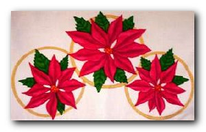 Transfer T4613 Poinsettia Rings
