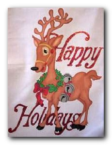 Happy Holiday Deer