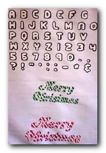 Transfer T4655 Merry Christmas & Fat Letters