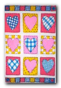 Transfer T4665 Patchwork Hearts