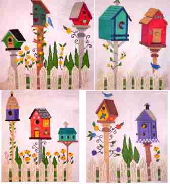 Transfer T5043 Birdhouse Collection