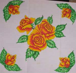 Transfer #RQ01 Rose Quilt Block Pak